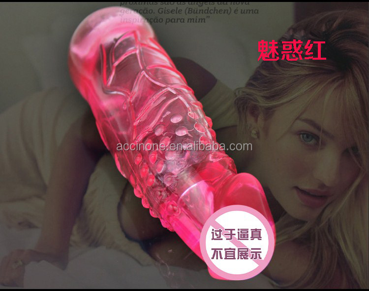 Sex toys for men delay penis extension sleeve adult toys solid head reusable condom for man Delay Condom penis Reusable Cock