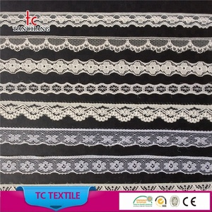factory wholesale fancy lycra lace nylon no elastic lace trim for lingerie WTLS01-300