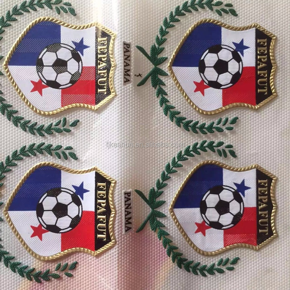 Custom Design Dye Sublimation PVC Patches With Iron On Back