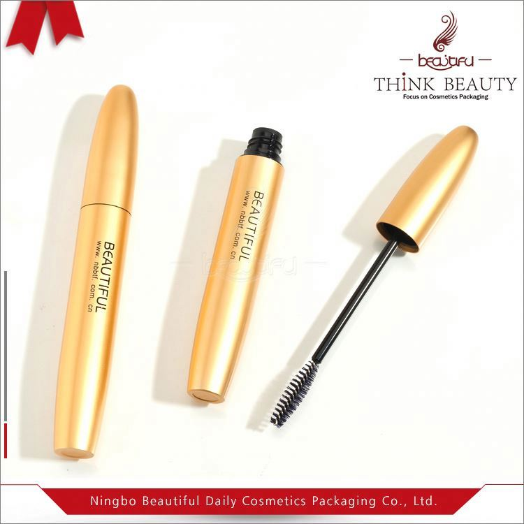 Transparement mascara tube with double end