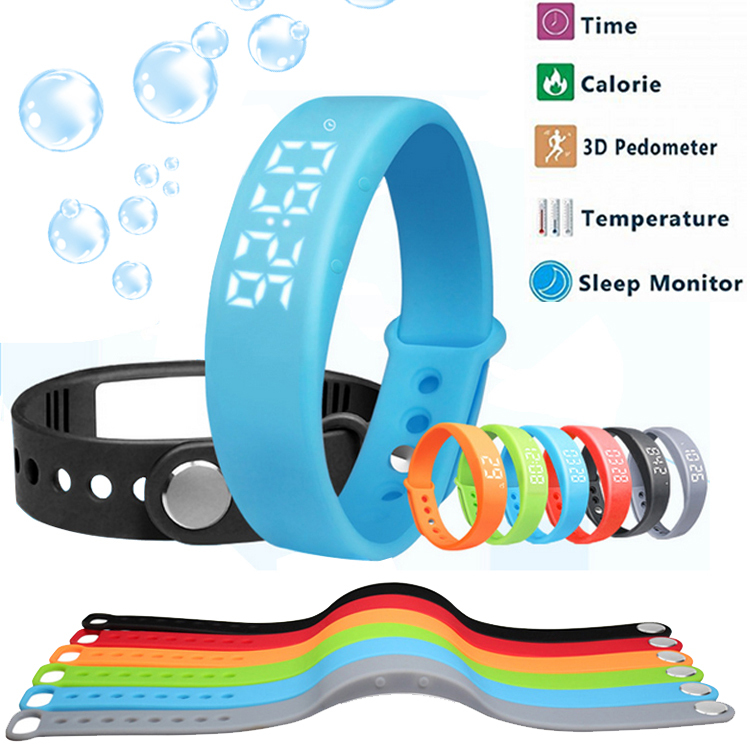 IN STOCK 100% Original Smart Bracelet For Android 4.4 IOS 7.0 iPhone6 Mi3 M4 Waterproof Tracker Fitness Wristband Pedometer