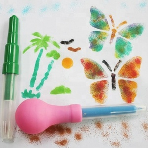 Promotional Gift Hot Selling Popular Kids Painting Colorful Airbrush Stencil Art Blow Pen For Children