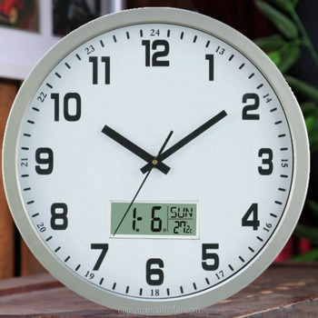 16inch Metal Wall Clock Big Size With Sangtai Clock Movement