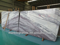 Nature Big Slab Polished Lilac Book Match Marble Stone