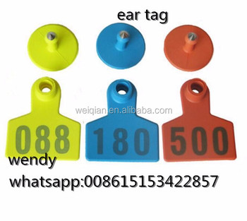 Plastic Ear Tags For Cattle Sheep Tag Goat Pig Ear Tag