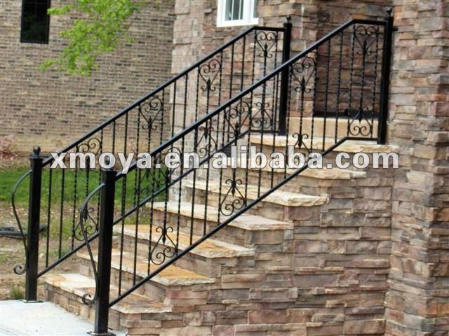 exterior de hierro forjado pasamanos de escaleras