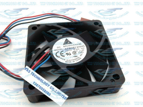 Delta DC12V 0.3A 60*60*13mm 6cm dual ball bearings CPU fan AFB0612HHC -FOO support speed measurement