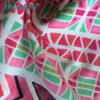 100 % polyester printed knit tricot fabric for home textile