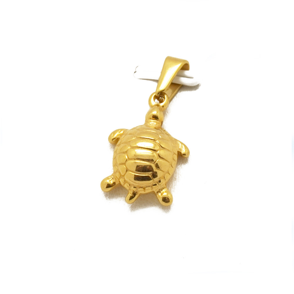 Wholesale Metal Silver Gold Sea Turtle Charms Pendant Tortoise Jewelry for Women Pendant Necklace