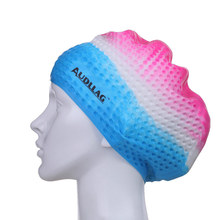Comfortable best custom adult cool silicone swimming caps to protect hair