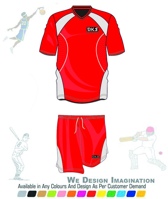 best red new style hot sale football team uniform