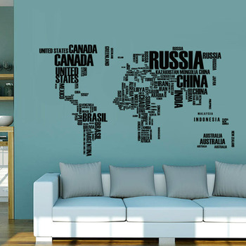 Large Removable Living Room Wall Sticker World Map - Buy Wall Sticker World  Map,Living Room Wall Sticker,Large Wall Stickers Product on Alibaba.com