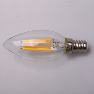 Amber color Candle Light Lamp C35 LED filament bulb 4W 6W 9W LED E14 E12 Dimmable AC110V 220V LED Candle bulb E14 E12