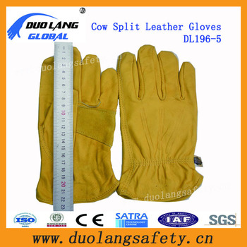 Cowhide Grain Leather Driver Gloves