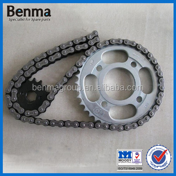 Factory Sell CG125/CG150 motorcycle chain /wholesale motorcycle sprocket