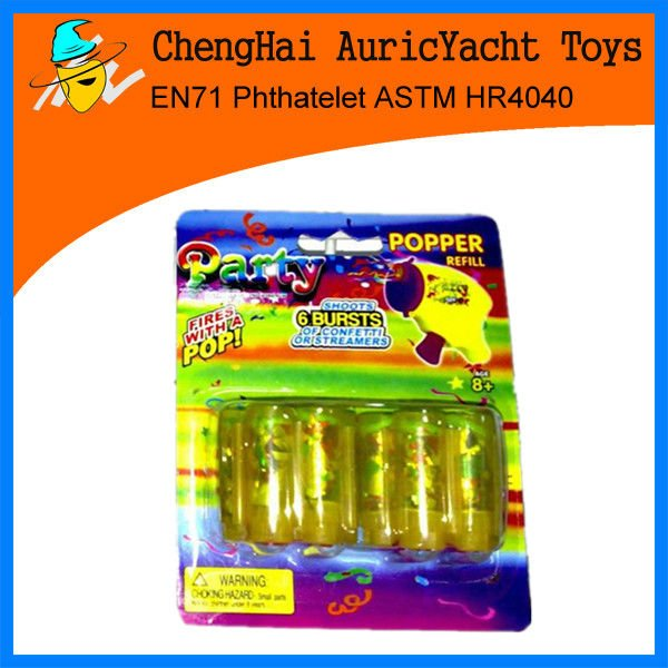 hot selling ribbon bullets for novelty toy