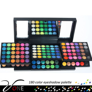 180 color amazing makeup palette 6 foldable stacks eyeshadow compact refillable eye shadow