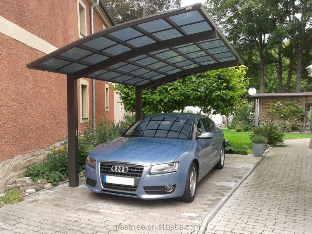 Pas couch cadre finition aluminium carport polycarbonate for Auvent en aluminium pour maison