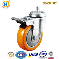 PU Adjustable Caster Wheel with Brake,Castor Wheels