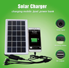 2017 Solar Panel Powered cell phone Bank Charger case for smartphone