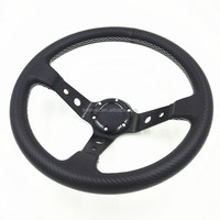 350mm quick release steering wheel in black stitch