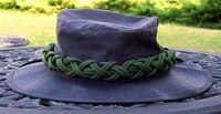 Two bight turks head knot paracord hat band