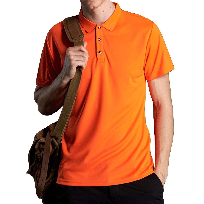 Get Quotations · EVERDESIGN Men s Short Sleeve Moisture Wicking Polo - Dri- Fit Solid Shirts Performance Golf Pique 3653e3c53