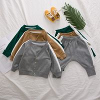 Wholesale spring fall baby boutique clothing sets baby clothing cotton sets for boys and girls