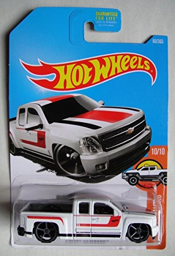 Hot Wheels, 2017 HW Hot Trucks, Chevy Silverado [White] 60/365