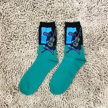 Носки Moda, счастливые мужские носки, забавные Носки с рисунком, цветные носки в партии, мужские летние модные носки с принтом Ван Гога(Китай)