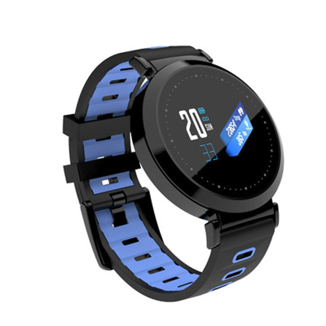 Fitness Watch Y10 Color Screen Smart Bracelet Heart Rate Blood Pressure Blood Oxygen Bluetooth Sports Step Health Wear Gift Information Reminder Smart Watch,Blue