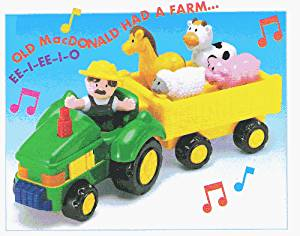 Megcos Musical Toy Farm Tractor -Affordable Gift for your Little One! Item #LMID-1274