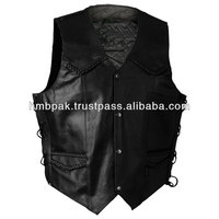 Buy MENS LEATHER WAISTCOAT BIKER VEST Braided in China on Alibaba.com