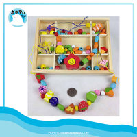 Wooden beads toy can be made necklace or bracelet