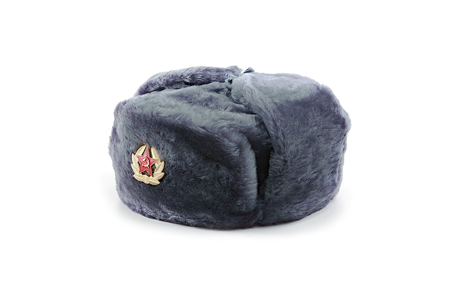 2738334b82a3f Get Quotations · Authentic Russian Ushanka Fur Hat – Soviet Army Heat  Trapper Winter Hat – Original Military USSR
