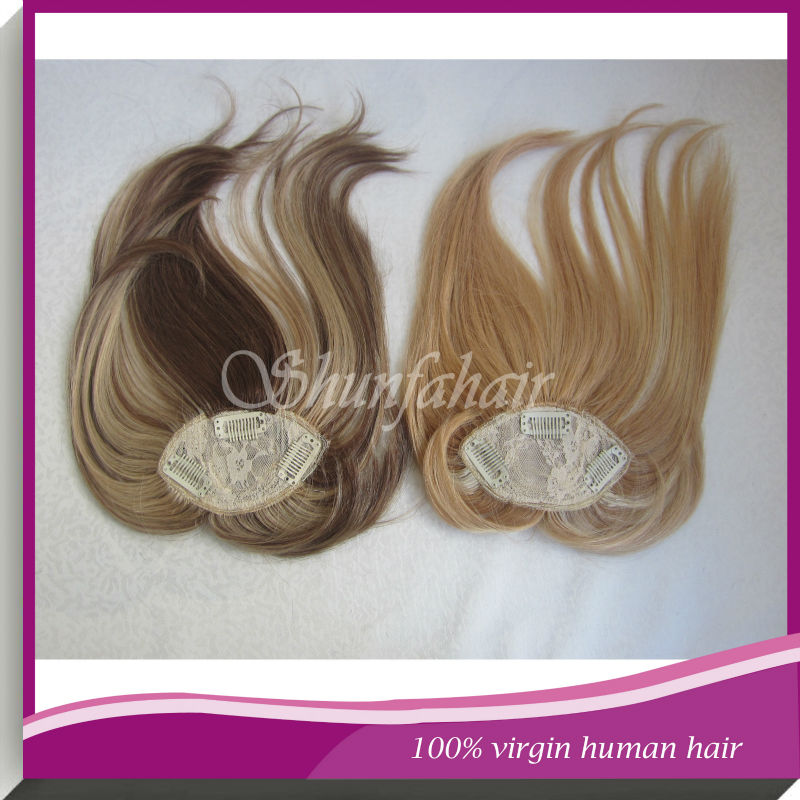 14 inch ombre color human hair toppers brazilian remy