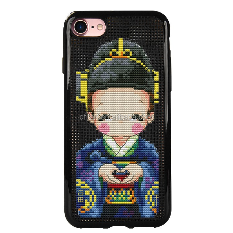 DFIFAN Hot DIY cross stitch mobile phone case cover for iphone 7