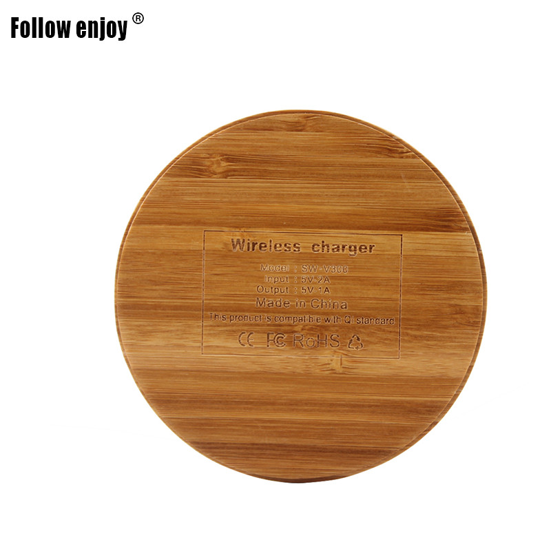 Follow Enjoy Bamboo Wood QI-compatible devices Wireless Charger Quick charge 100% positive review