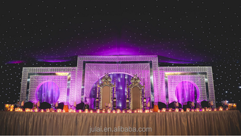 Indian Wedding Stages Backdrop Decoration
