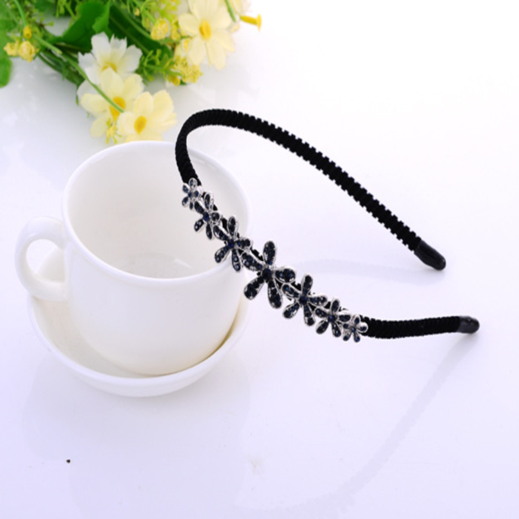 MPHB010 Huilin Jewelry Vintage Court Style Rhinestone Flower Wedding Wholesale Headband
