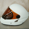 Fashionable Full Face Hang Glider Helmets White Color