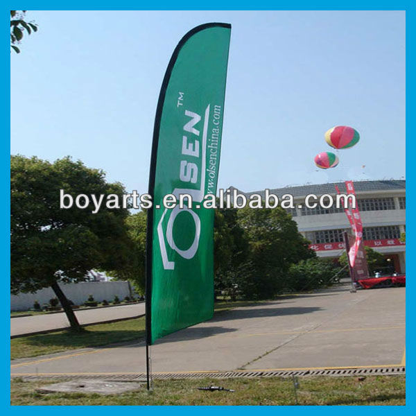 hot feather flag banner werbung