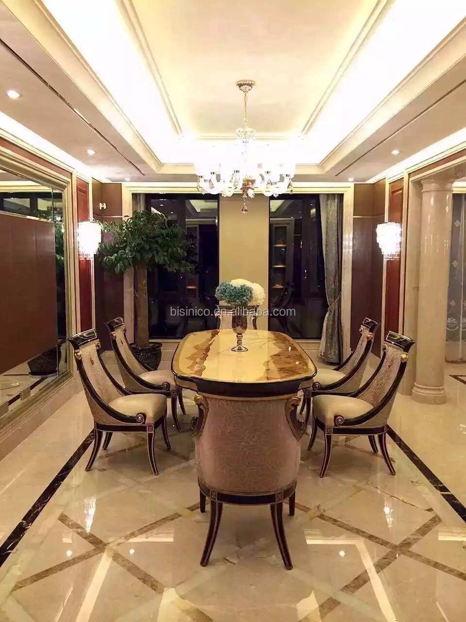 Inggris gaya kayu solid dining room furniture meja makan oval