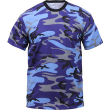 Guangzhou Short Sleeve Cotton fashion Popular Blank Men Camo T Shirt