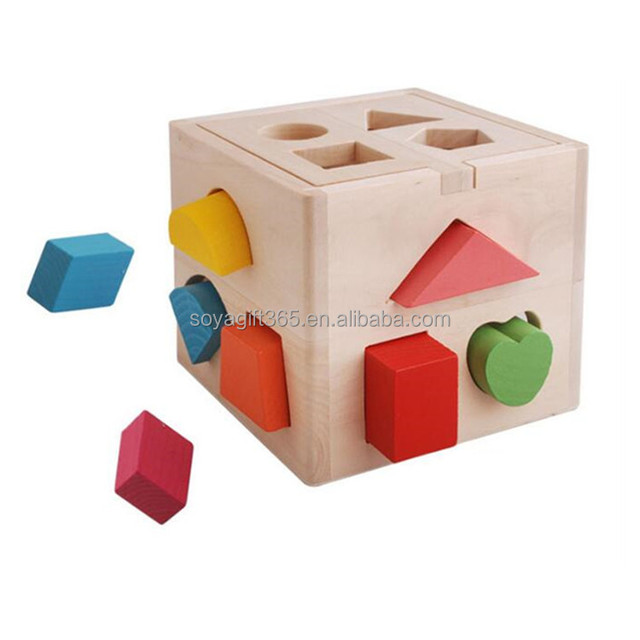 Educational Baby Toys Children Multifunction Early Learning Wooden Cube