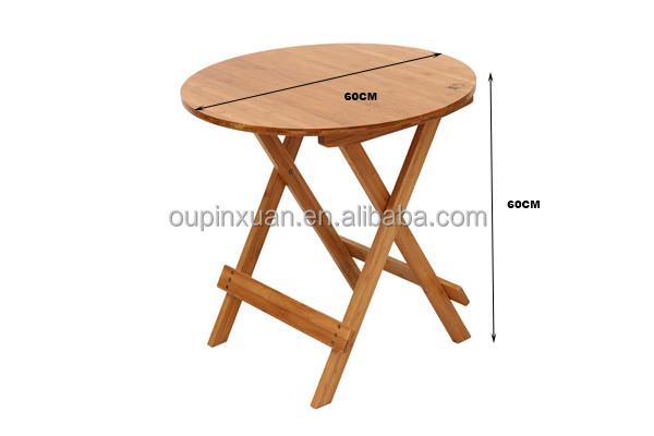 Migliore rotondo pieghevole tavolo da pranzo giardino di bambù