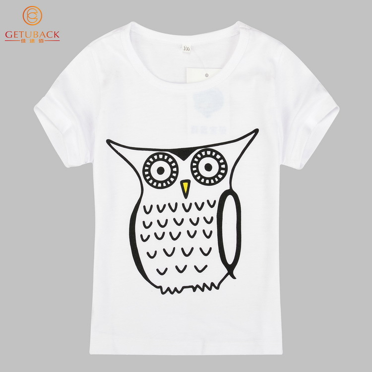 2015 New Cartoon Children T Shirts Summer Style 7 Designs 12M 7T Kid Short T Shirt