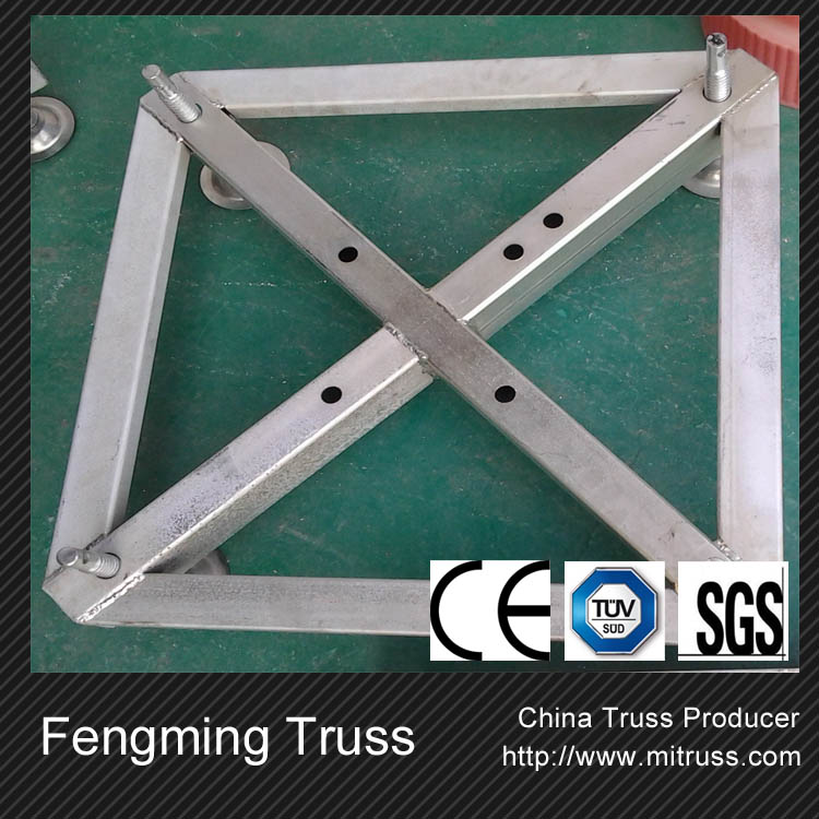 Aluminum truss cast iron table base