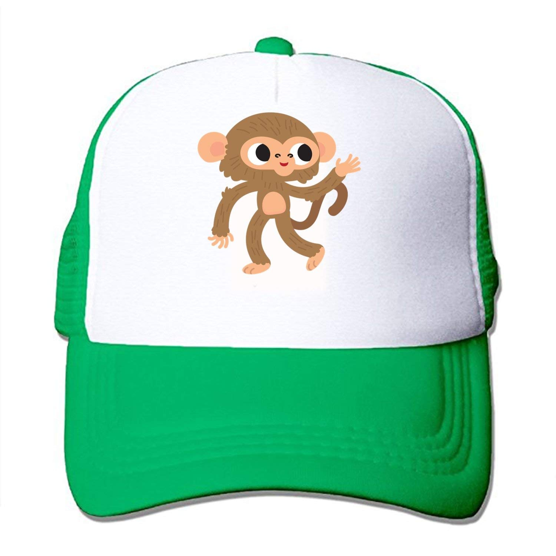 dff16f4671d7c Get Quotations · Little Monkey custom Mesh Trucker Hat Adjustable Snapback  Baseball Cap