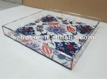 Acrylic ServingTray,Plexiglass Fruit Plate,Lucite Food Tray